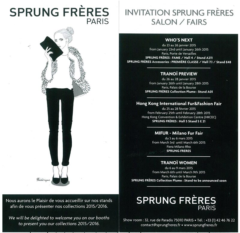 invitation sprung freres salons
